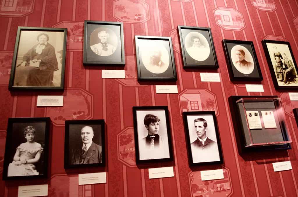photo wall of Walt Disney's family