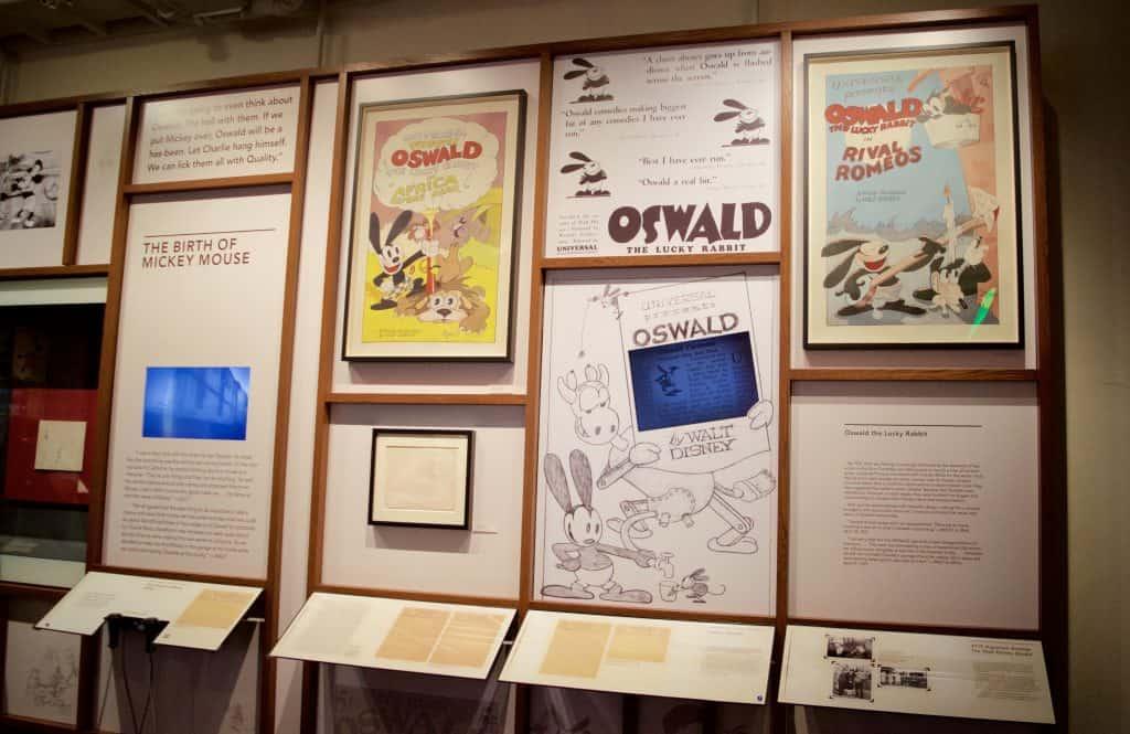 Oswald Disney exhibit wall
