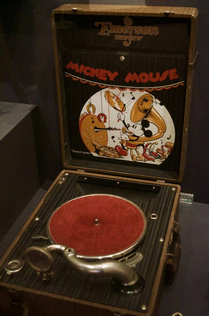 vintage Mickey Mouse phonograph