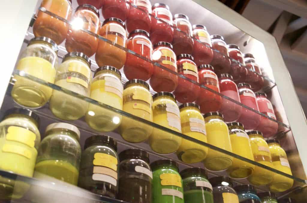 jars of color pigmentation at Walt Disney Museum