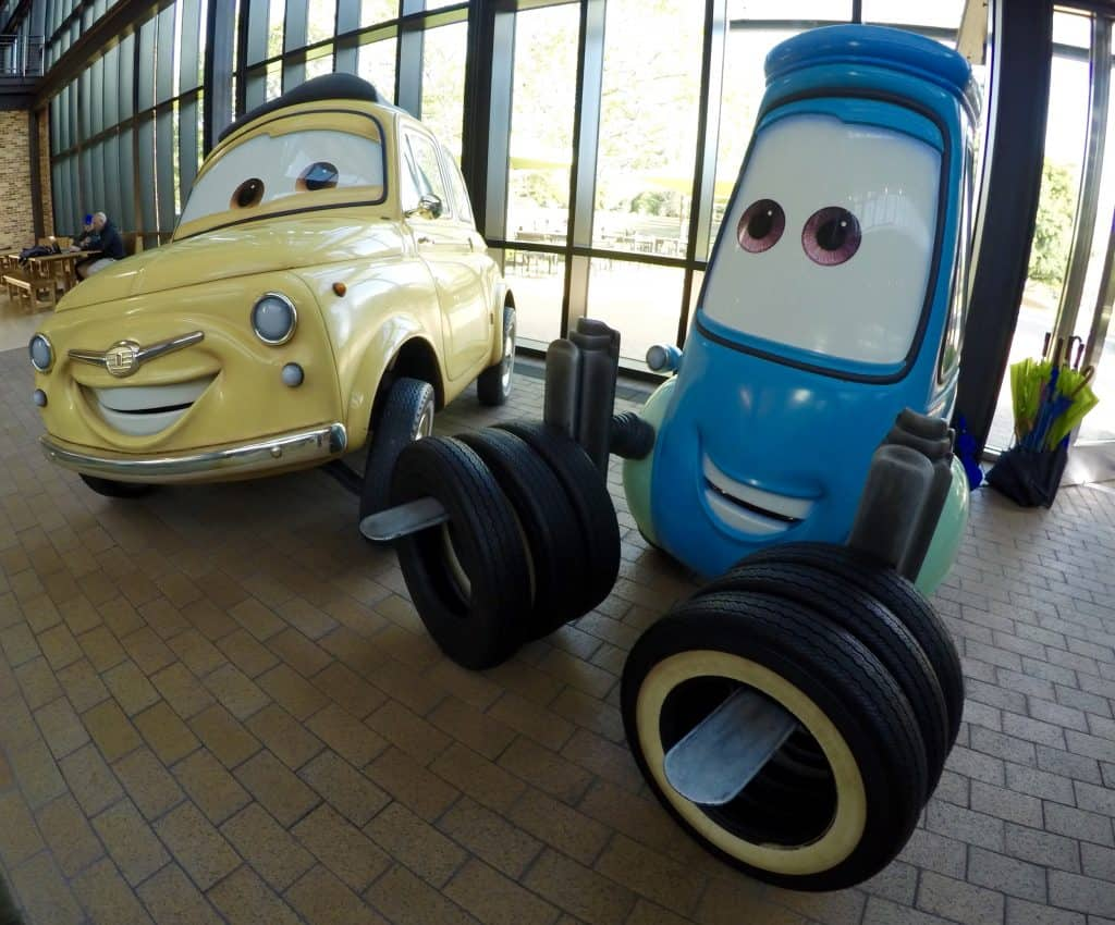 Disney Pixar Cars statues in California