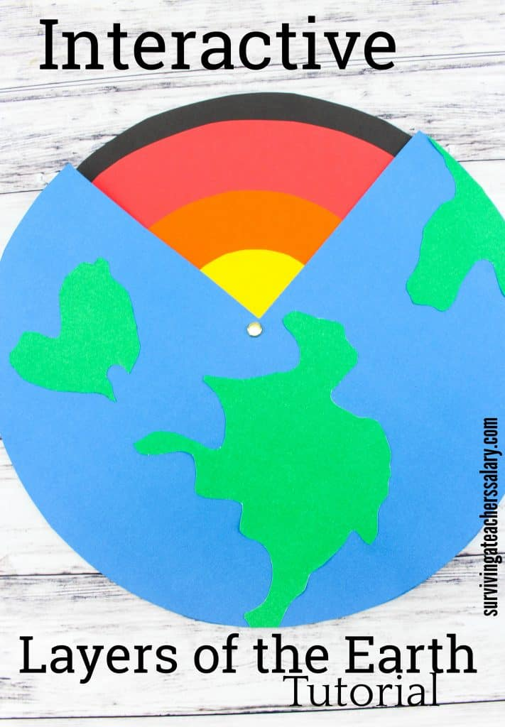 paper layers of the earth science craft
