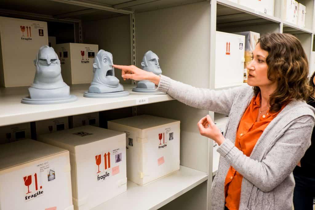 incredibles clay art at Pixar Studios