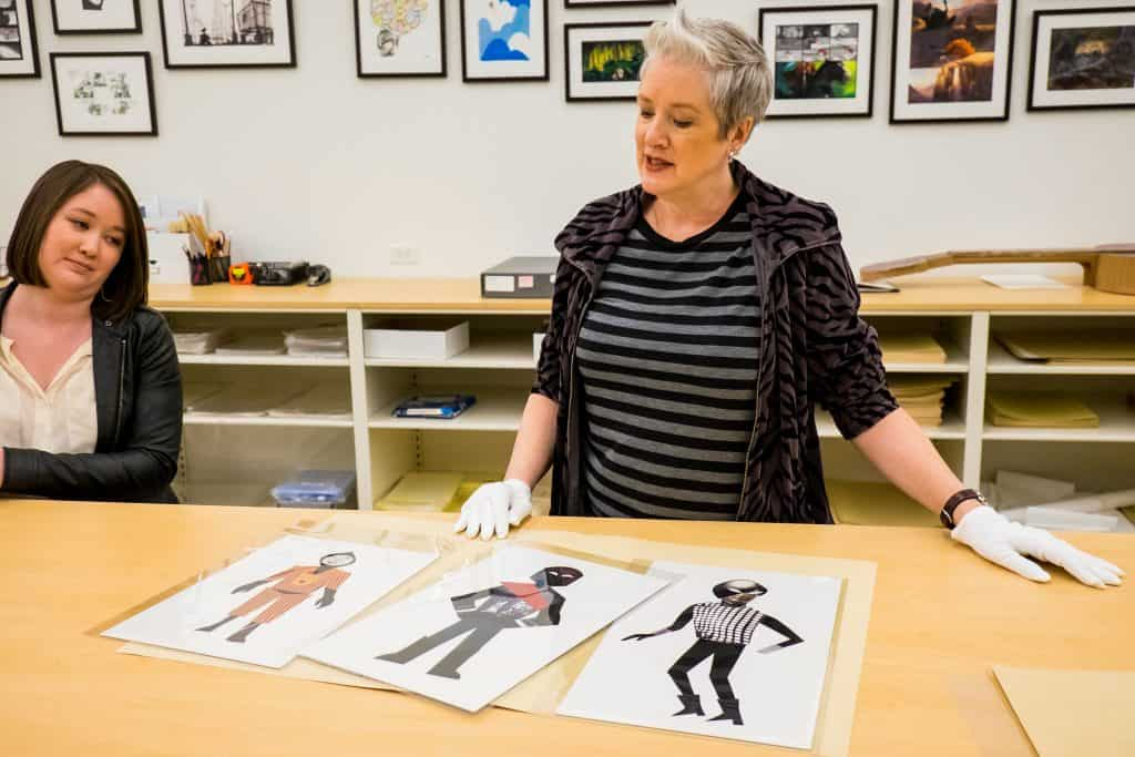 historian with art at Pixar Archives