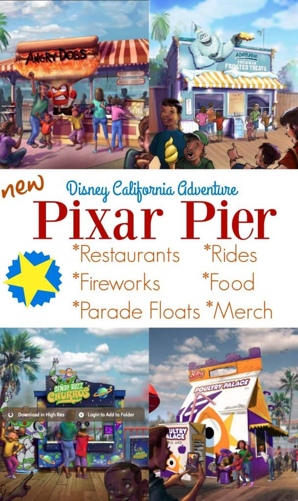 Pixar Pier restaurant collage