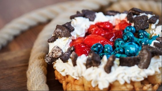 Berry Funnel Cake at Disneyland