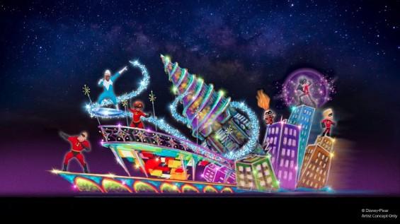 Pixar Incredibles parade float