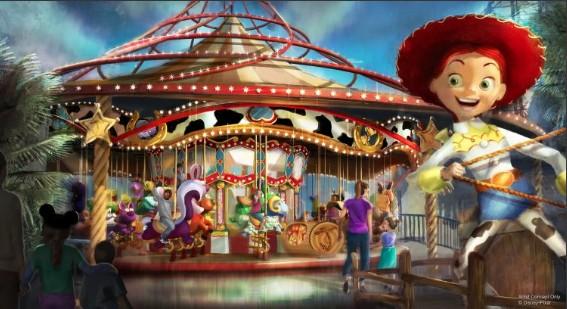 Jessie's Carousel at Disneyland