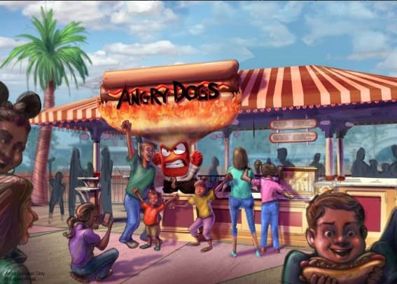 Angry Dogs restaurant at Pixar Pier
