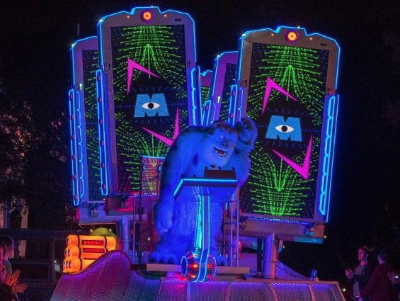 LED parade float with Sulley Monsters Inc