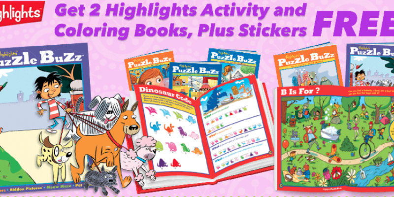 highlights puzzle books promo