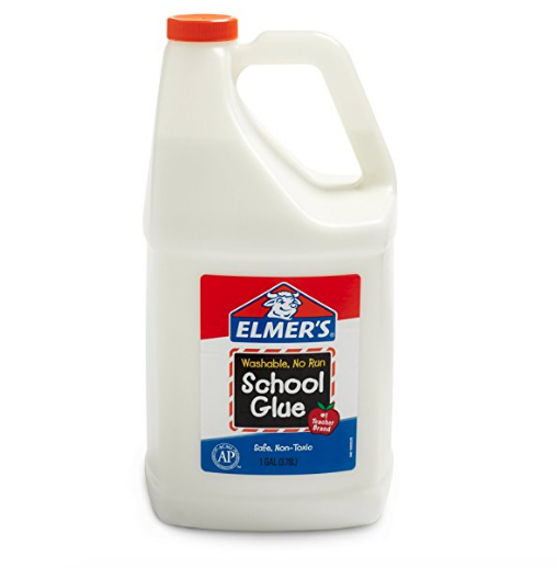 a gallon of white Elmer's school glue