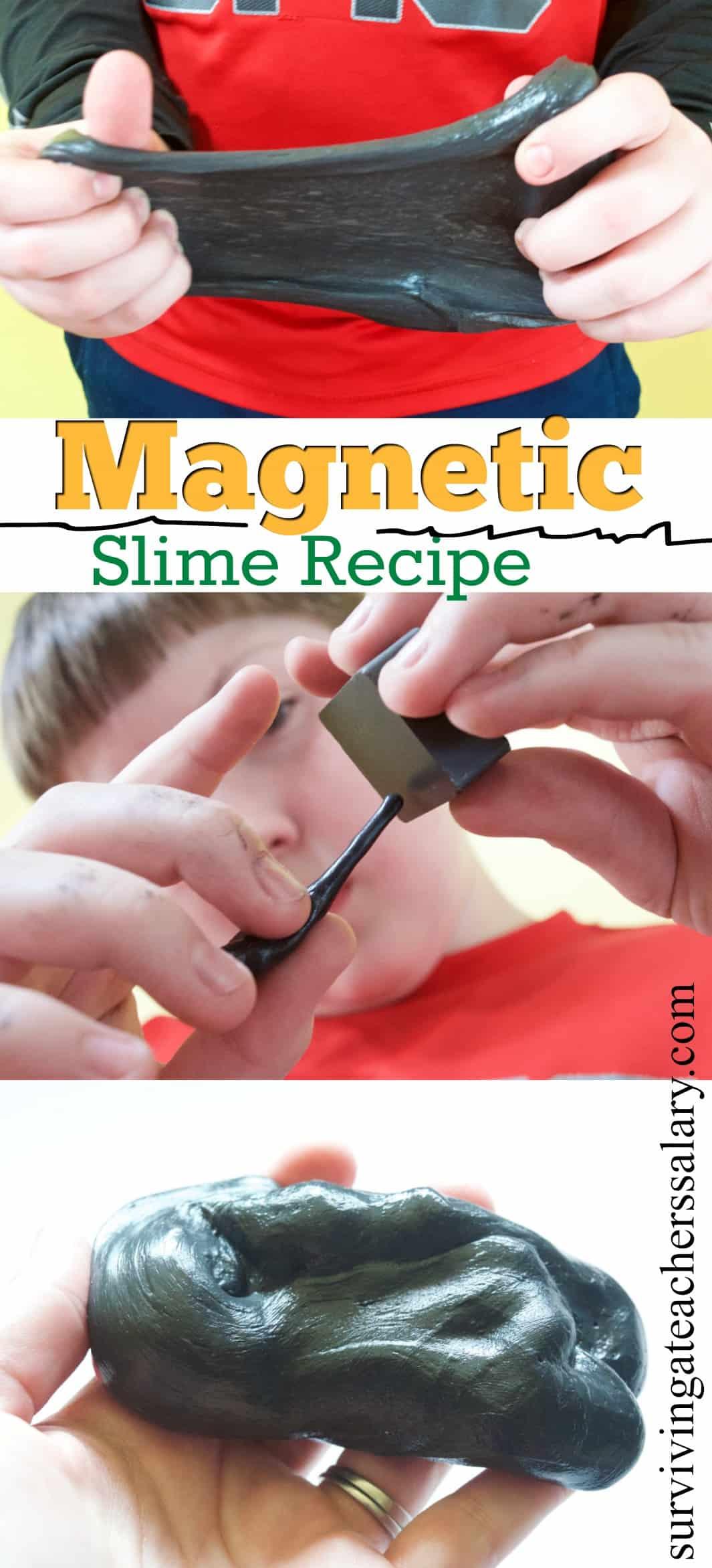 magnetic slime recipe photo tutorial