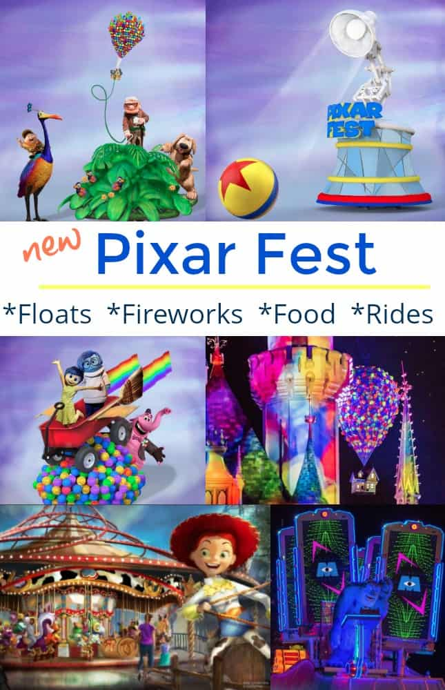 Pixar Fest floats and fireworks