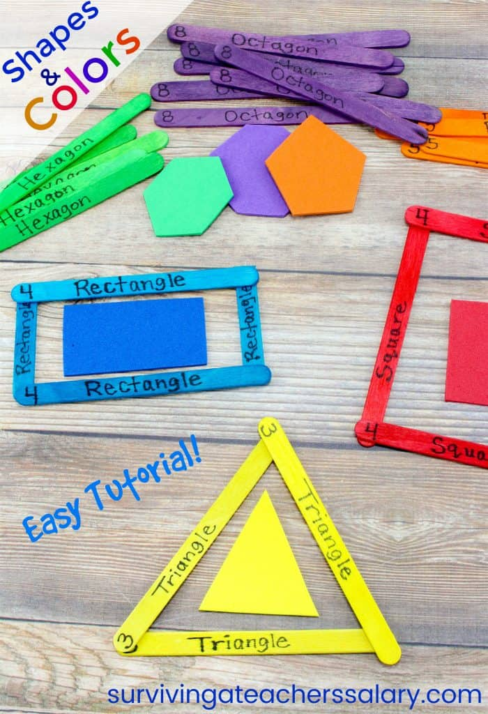 craft stick shapes and colors