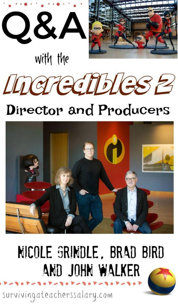 Incredibles 2 interviews Pixar movie
