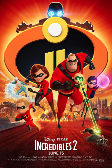 Incredibles 2 Movie Poster from Disney Pixar
