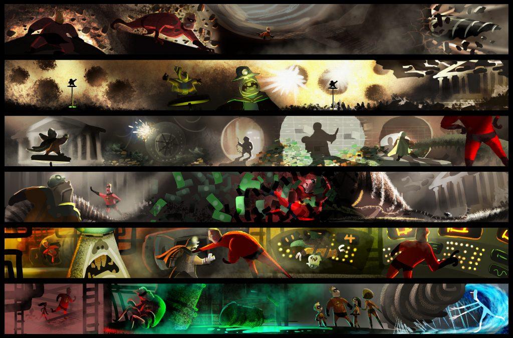 concept art Incredibles 2 villains