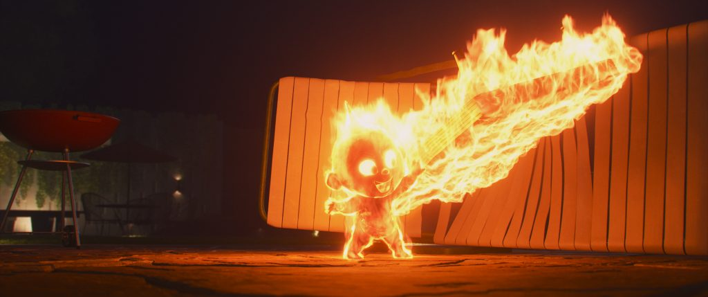 Jack Jack fire effect Incredibles 2