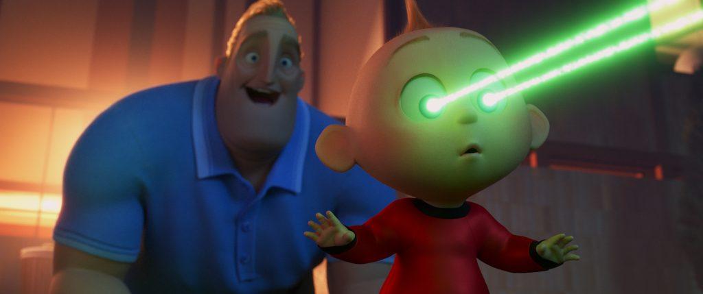 Mr Incredible with baby Jack Jack Incredibles 2