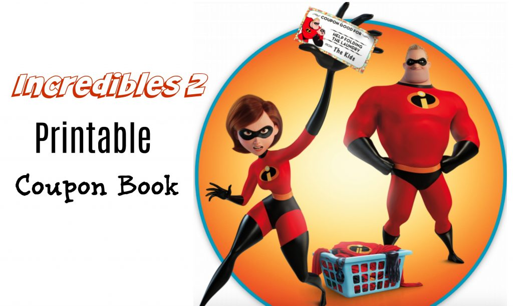 Printable Coupon Book For Kids Incredibles 2 Superheroes