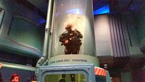 scuba diver Disney tank