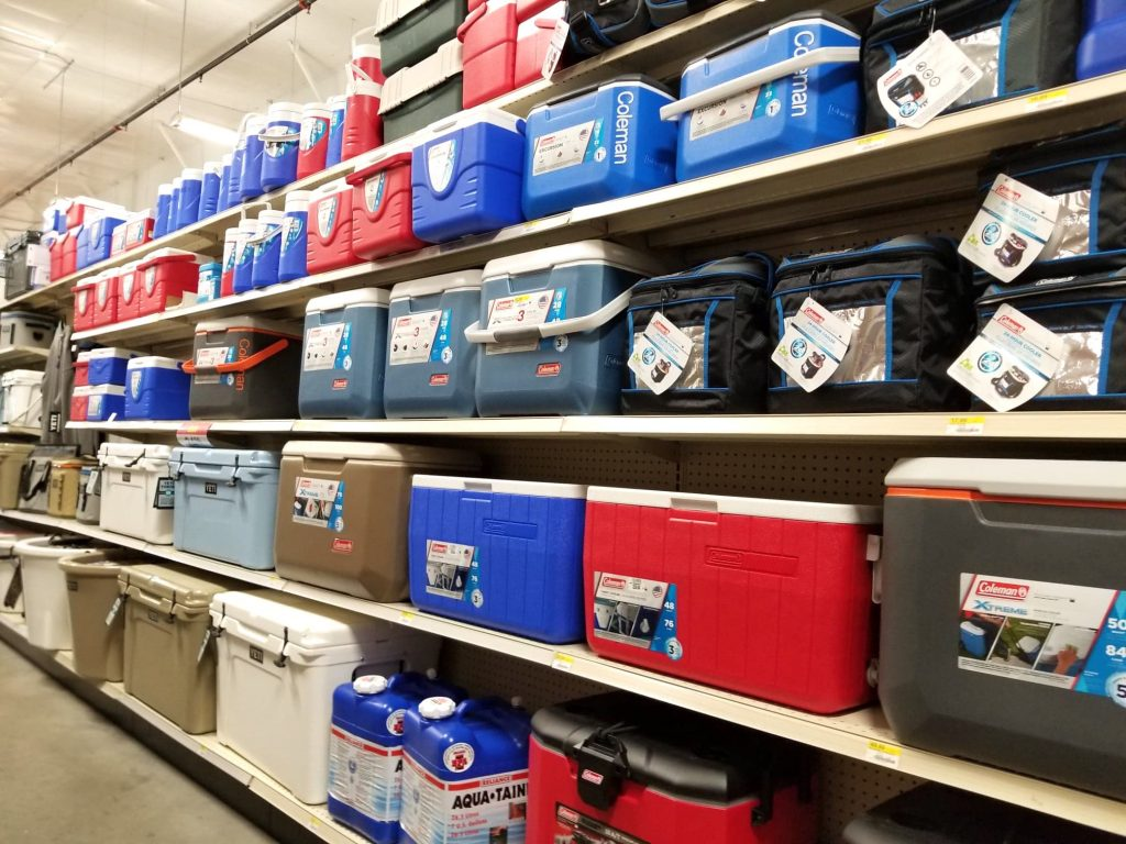 camping coolers at Theisen's