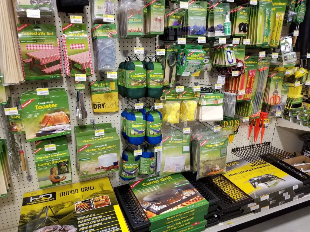 camping supplies at Theisen's