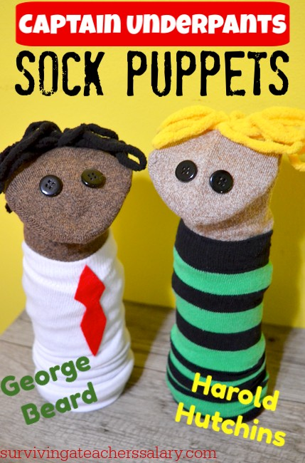 George & Harold sock puppets captain underpants