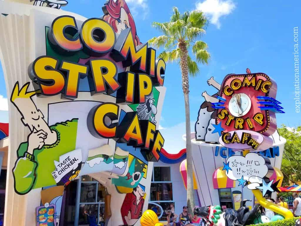 Comic Strip Cafe in Islands of Adventure Universal Studios
