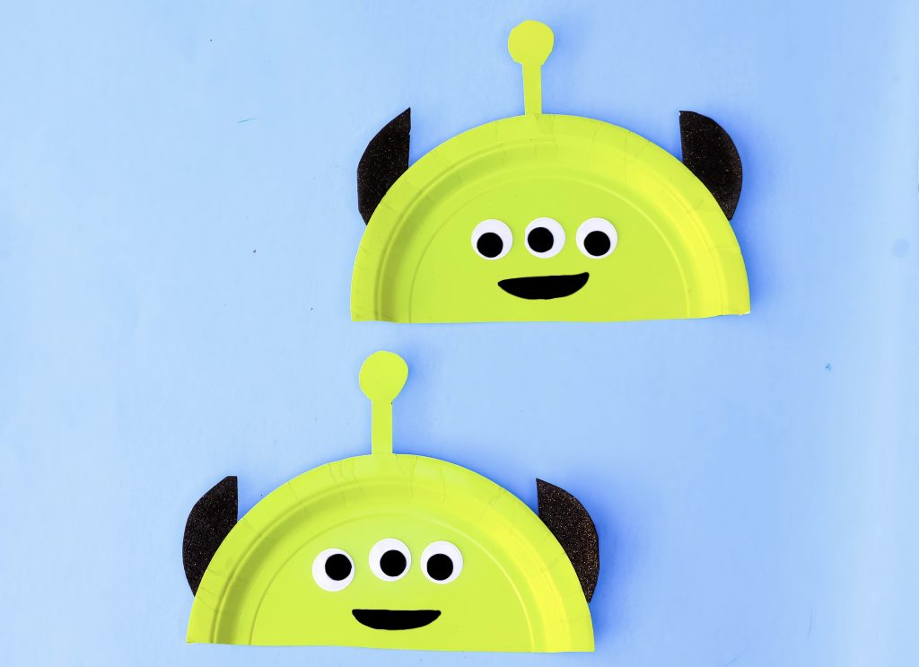 green space aliens paper plate kids craft