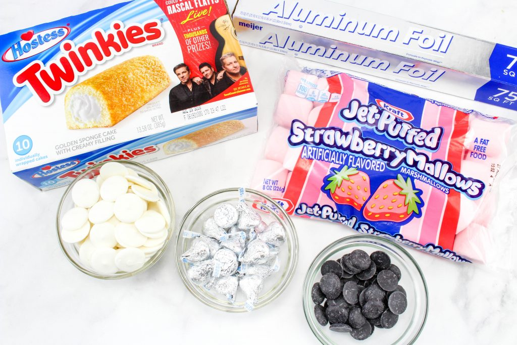 ingredients for School Pencil Twinkies recipe