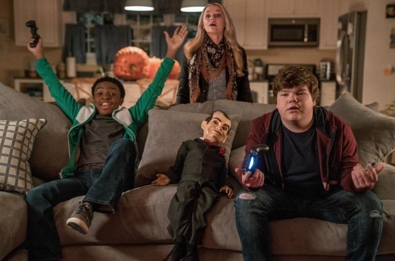 Goosebumps 2 movie slappy Madison Iseman, Jeremy Ray Taylor and Caleel Harris