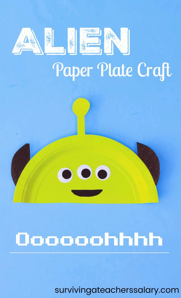 disney toy story alien paper plate craft