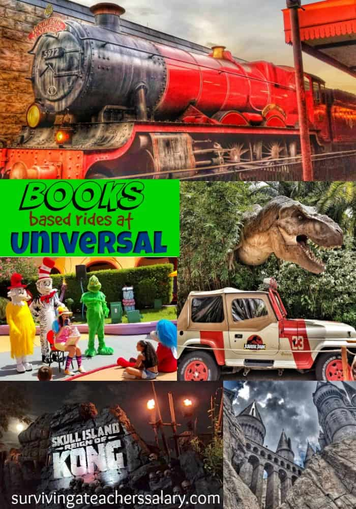 theme park rides at Universal based on books