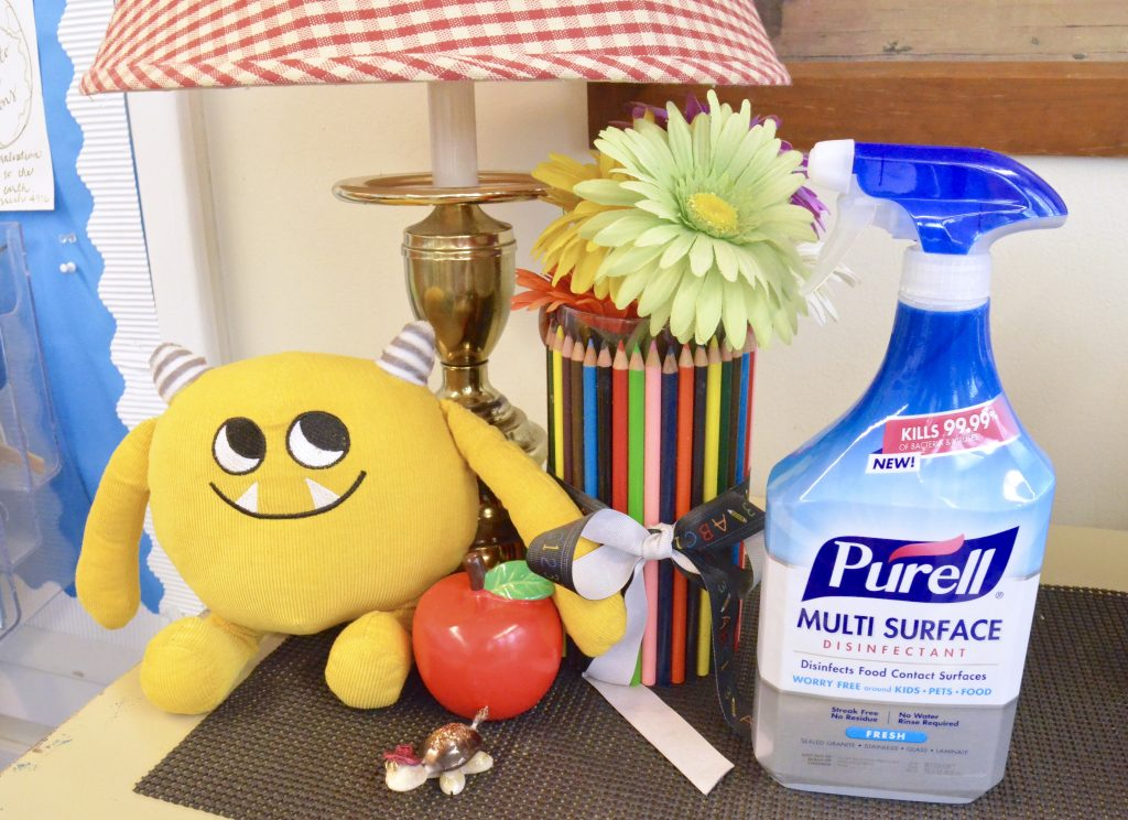 classroom decorations with PURELL Disinfecting Spray