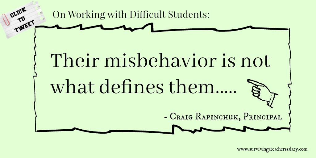 difficult students quote on misbehavior