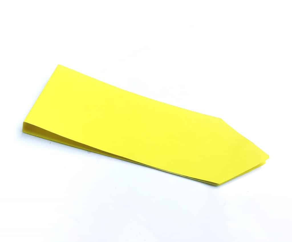 yellow pencil notebook paper craft