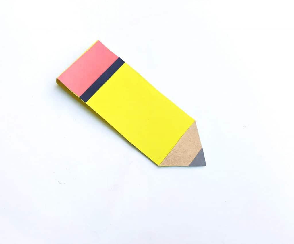 pencil notebook paper craft