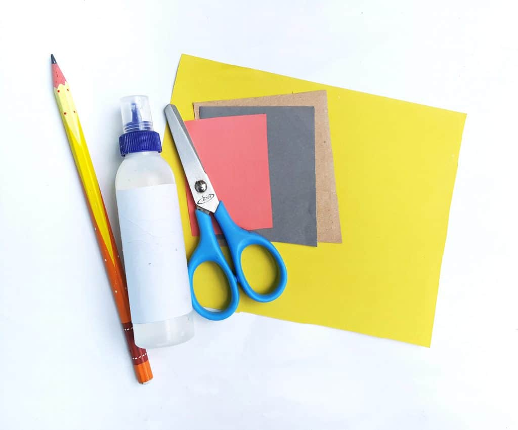 supples to make pencil craft notebook paper