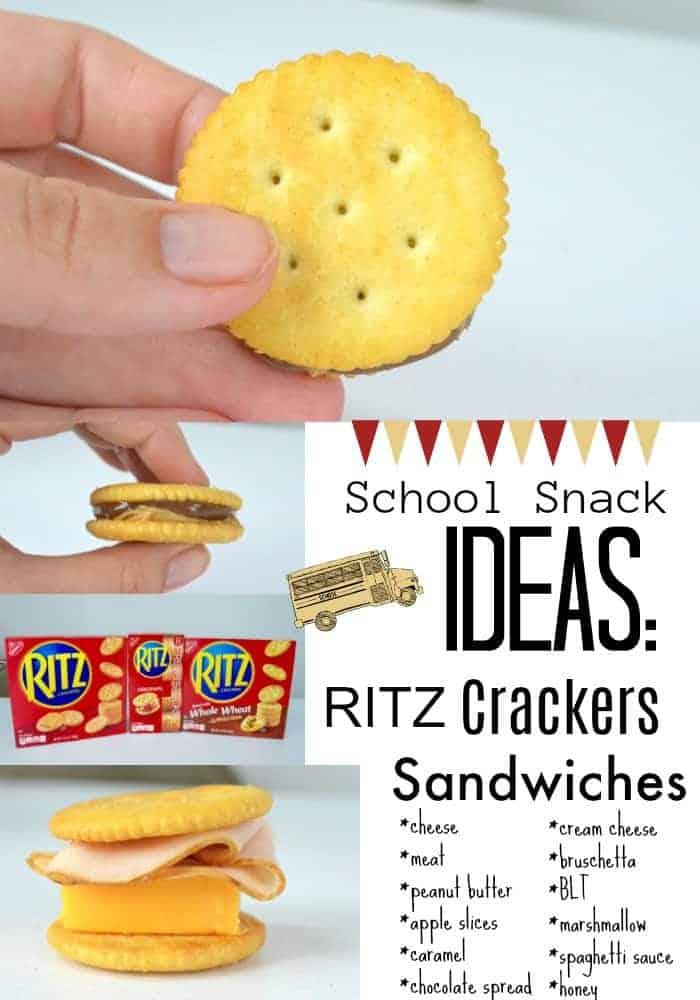 RITZ Crackers school snack ideas