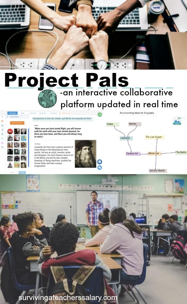 Project Pals team work platform for classrooms