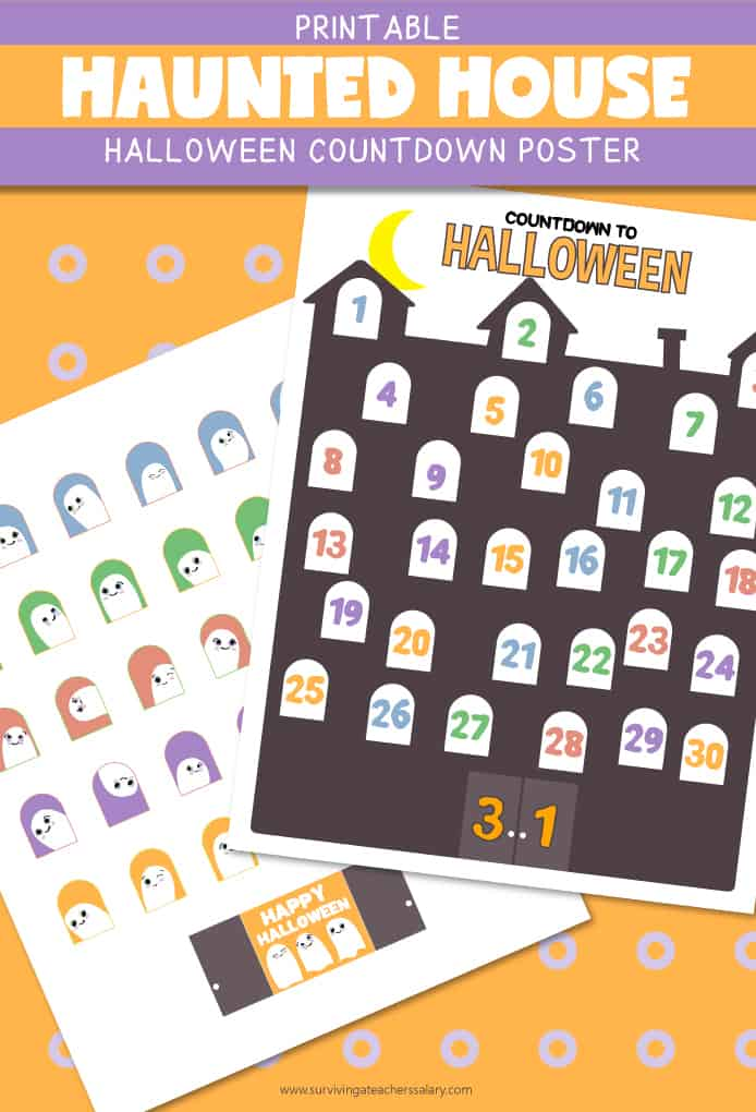printable Halloween calendar activity
