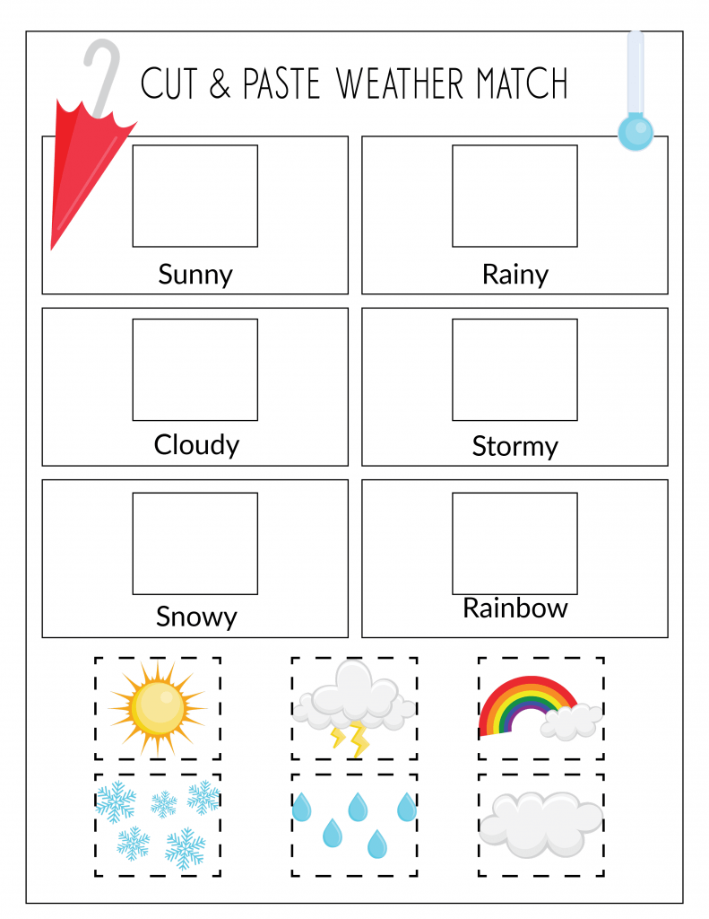 weather matching game printable