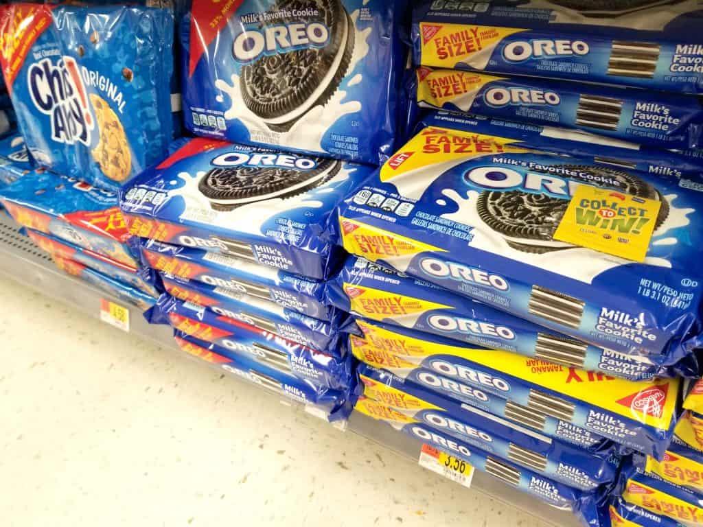 Oreo cookies on shelf