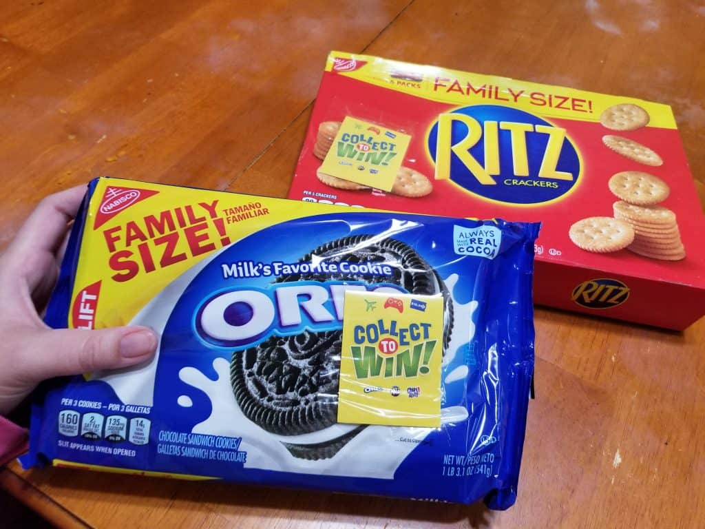 Oreo Cookies and Ritz Crackers