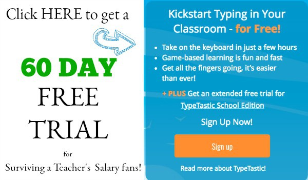 TypeTastic School Free Trial Typing
