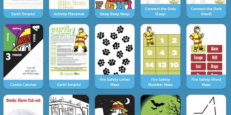 fire safety printables crafts and activities