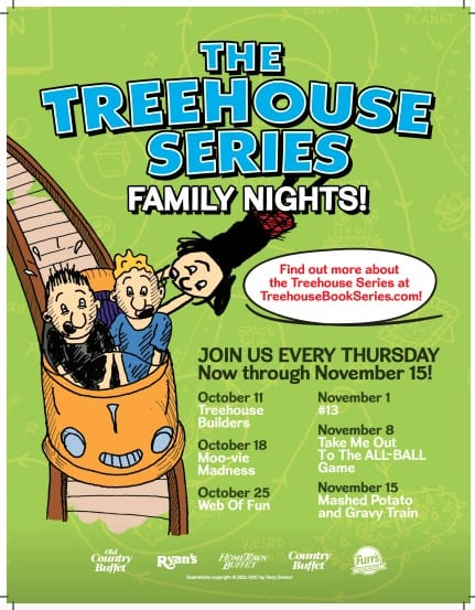 Treehouse Series Books Family Night Out
