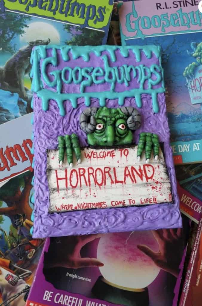 handmade Goosebumps Horrorland book journal